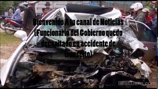Quedo decapitado en accidente de transito (Fuertes imágenes sin censura)