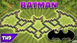 getlinkyoutube.com-Clash of Clans - BEST TOWNHALL 9 BATMAN FARMING BASE - 2015