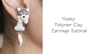 getlinkyoutube.com-Polymer Clay Earrings Tutorial: Husky