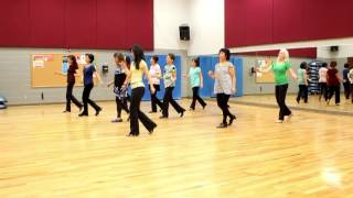 getlinkyoutube.com-Gypsy Queen - Line Dance (Dance & Teach in English & 中文)