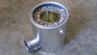 getlinkyoutube.com-Homemade TIN CAN Rocket Stove - DIY Rocket Stove - Awesome Stove! - EASY instructions!