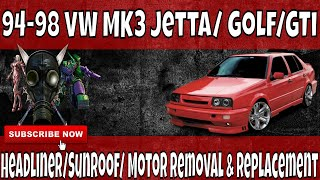 getlinkyoutube.com-How To Removel, Replace, Repair You Headliner and sunroof motor in A 93-99 MK3 VW Volkswagen Jetta