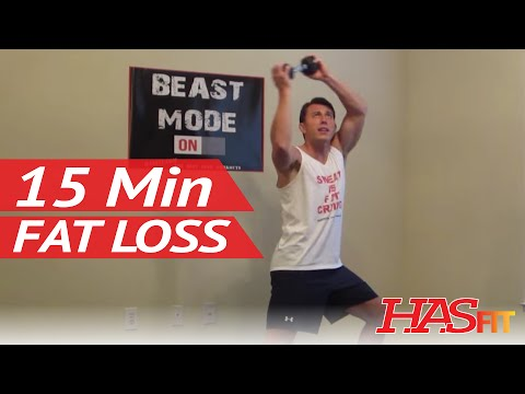 15 Minute Sweat Is Fat Crying Work Out - HASfit Fat Loss Workout - Fat Loss Exercises to Lose Fat