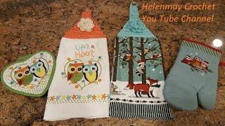 getlinkyoutube.com-Quick Easy Beginner Life's a Hoot Crochet Kitchen Towel Topper DIY Tutorial
