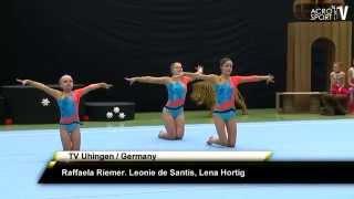 getlinkyoutube.com-Riemer, De Santis, Hortig - TV Uhingen Germany - Womens Group - Zwingerpokal 2013