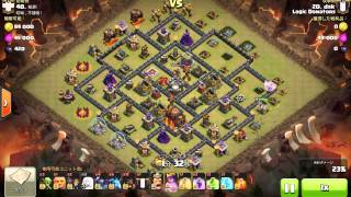 getlinkyoutube.com-clash of clans th10 3star attack healer pekka hog