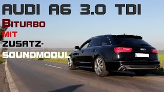 getlinkyoutube.com-Audi A6 3.0 TDI Biturbo mit Soundmodul