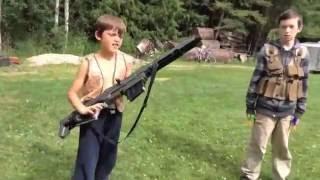 getlinkyoutube.com-Nerf Kids: Boys vs Girls