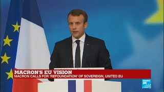 Watch Emmanuel Macron's full speech presenting his vision of post-Brexit Europe
