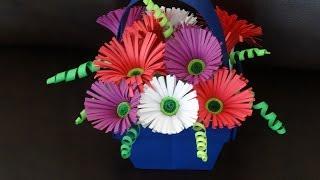 getlinkyoutube.com-Part I - How to make quilling flower basket