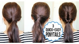 getlinkyoutube.com-Running Late Ponytail Hairstyles | Hair Tutorial