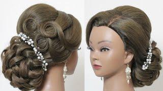 getlinkyoutube.com-Wedding updo. Classic bridal hairstyles for long medium hair tutorial