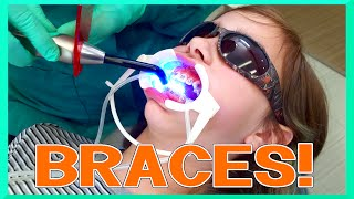 getlinkyoutube.com-AUDREY Gets Her BRACES on! - Kid VLOG - PAIN?