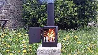getlinkyoutube.com-Rocket Stove mini wood burner