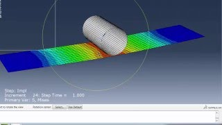 getlinkyoutube.com-Abaqus/CAE-Composite shell through thickness Bending stress plot Tutorial (3-point bend Abaqus std)