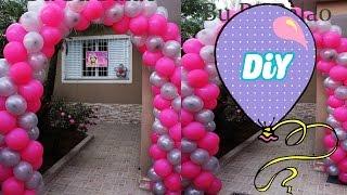 getlinkyoutube.com-Como fazer um Arco de Balão Espiral - Tutorial Archs Balloon