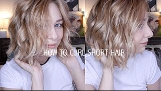 getlinkyoutube.com-HOW TO CURL SHORT HAIR | EASY & EFFORTLESSLY CUTE