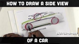 getlinkyoutube.com-How to draw a car: Side view proportion