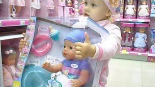 getlinkyoutube.com-Алиса едет в магазин Бубль Гум Домик Лалалупси и Беби Борн Baby Born