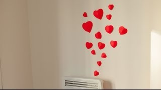 getlinkyoutube.com-DIY How to make simple 3D heart wall decoration in 15min. (Wedding, Valenitne's)
