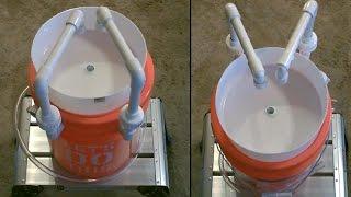 "getlinkyoutube.com-DIY Camp Sink! - The ""5 Gallon Bucket"" Camp Sink! - PVC Bucket Sink! -Dual Faucets (on/off-grid) DIY"