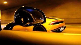getlinkyoutube.com-Mercedes-AMG GT-S & Lamborghini Huracan Tunnel Sound