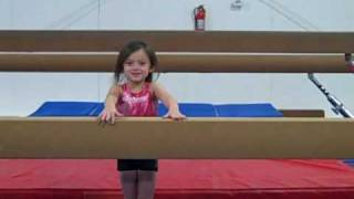 getlinkyoutube.com-Young gymnast with big skills: Maddy has a press handstand at 5 years old!