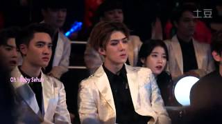 getlinkyoutube.com-EXO x IU Watching GDxTaeyang Good Boy MAMA2014