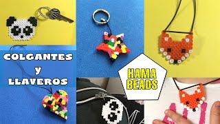getlinkyoutube.com-Colgantes y llaveros con hama beads