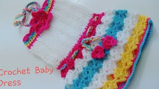 getlinkyoutube.com-CROCHET BABY SUMMER DRESS      PART-1