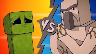 "getlinkyoutube.com-EPIC MINEQUEST 4 | ""Creeper VS Iron Golem"" by Sam Green Media"