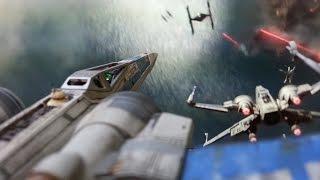 getlinkyoutube.com-Star Wars: The Force Awakens - Bandai 1/72 Resistance X-Wing Fighter