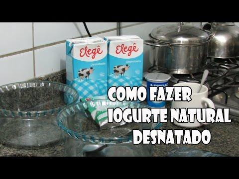 Iogurte Caseiro desnatado zero açúcar