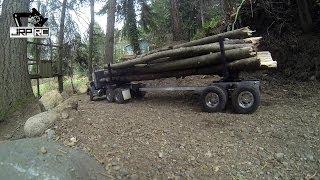 getlinkyoutube.com-JRP RC - The King Hauler 6X6 Log Truck