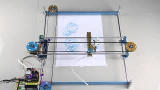 getlinkyoutube.com-Makeblock Drawing Robot: XY Plotter to Draw Freely on Paper