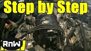getlinkyoutube.com-Chevy 3.8L Upper + Lower Intake Manifold Gasket and Tensioner Replacement Part 1