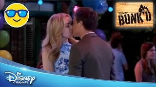 getlinkyoutube.com-Bunk'd | Emma and Xander Kiss || Official Disney Channel US