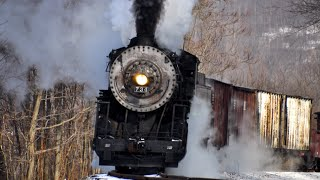 getlinkyoutube.com-Steam Freight Train Western Maryland 734