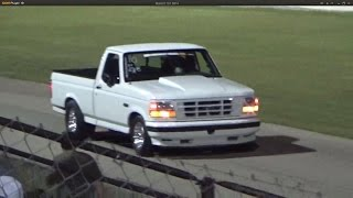 White Ford Lightning at Car Craft Midnight Drags