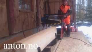 getlinkyoutube.com-Anton lager laftetømmer med Sag og Laftefres