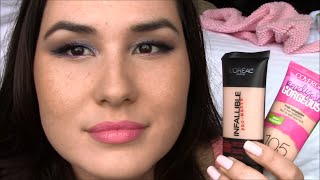 getlinkyoutube.com-L'Oreal Infallible Pro-Matte Foundation vs Cover Girl Ready Set Gorgeous Review