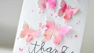 getlinkyoutube.com-Watercolor Butterflies Card | Kalyn Kepner for Paper Smooches