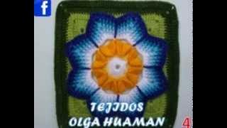 getlinkyoutube.com-muestras de flores tejidas a crochet para colchas