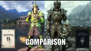 getlinkyoutube.com-Oblivion vs. Skyrim Armor Comparison.