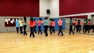 getlinkyoutube.com-Piano Man - Line Dance (Dance & Teach in English & 中文)