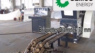 getlinkyoutube.com-Briquette Machine for Straw, Sawdust, Wood Chips and Other Biomass