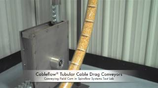 Cableflow Tubular Cable Drag Conveyor Running Field Corn