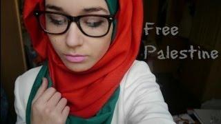 getlinkyoutube.com-Hijab Tutorial l Palestinian flag inspired