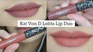 getlinkyoutube.com-Kat Von D Lolita Lip Duo Swatches