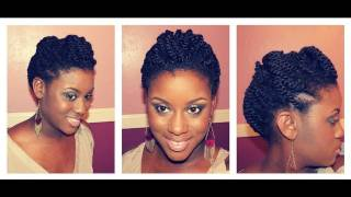 getlinkyoutube.com-Two Strand Twists Updo | Double Dose